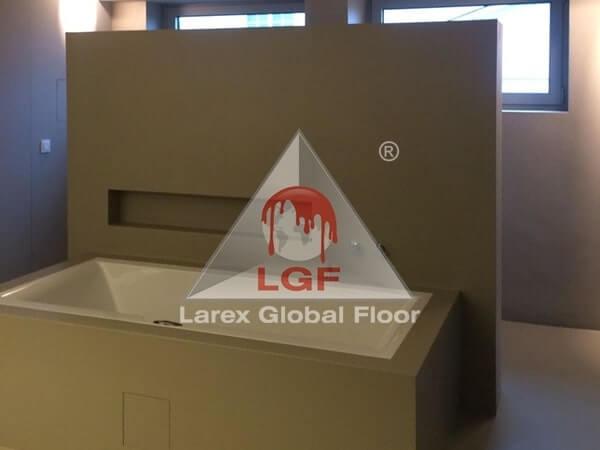 Larex Global Floor - Microciment cu aplicare in bai si toalete