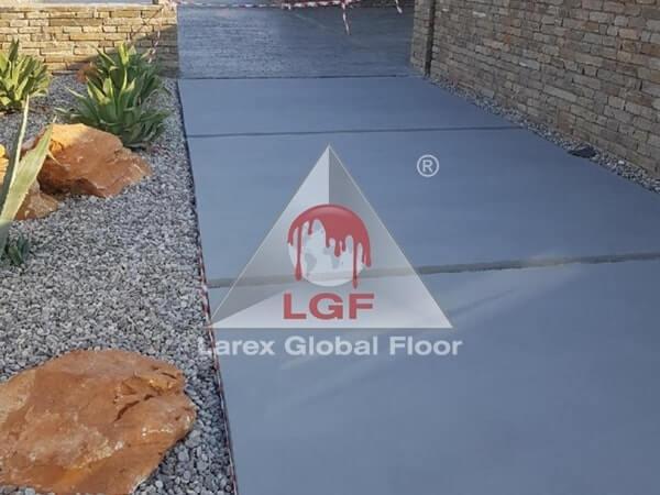 Larex Global Floor - Microciment la Exterior