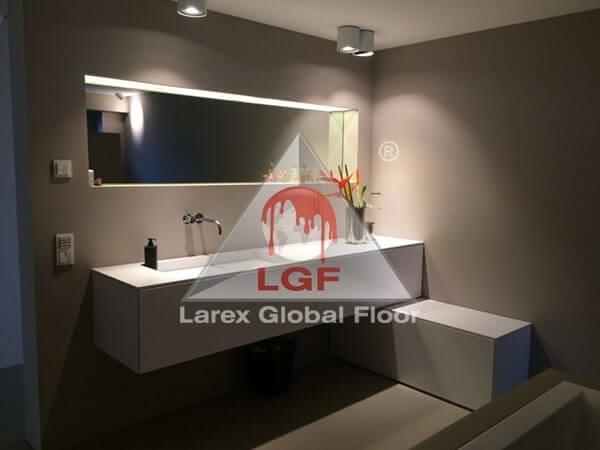 Larex Global Floor - Pardoseala microciment pentru toaleta