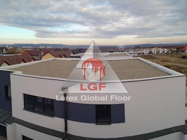 Larex Global Floor - Hidroizolatii acoperis balastat terasa bloc rezidential