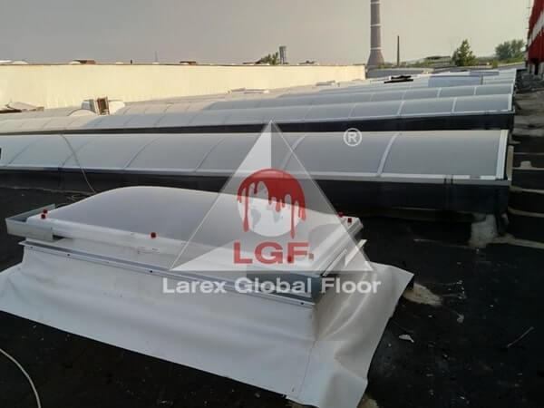 Larex Global Floor - Trape fum acoperis cupola luminatoare continue