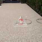 Aplicare pardoseala covor pavaj din piatra naturala drentanta DURAPAVE Larex Global Floor LGF alee inchidere poarta