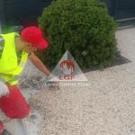 Aplicare pardoseala covor pavaj din piatra naturala drentanta DURAPAVE Larex Global Floor LGF alee nivelare manuala durapave