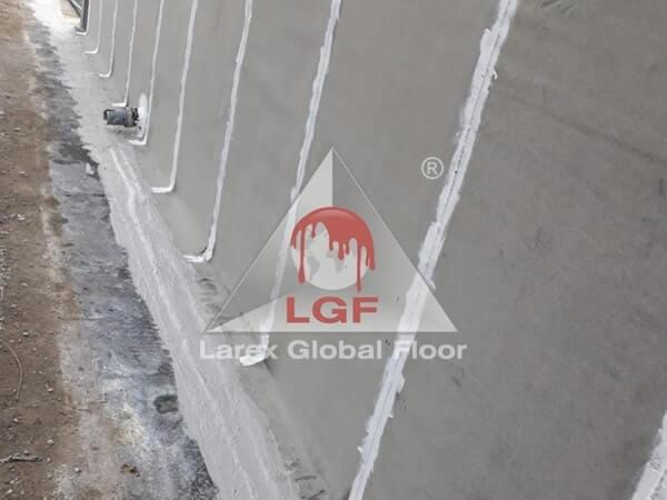 Larex Global Floor - Hidroizolatie fundatie elevatie cu membrana bituminoasa si izolare cu Duragum